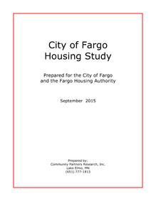 City of Fargo Housing Study