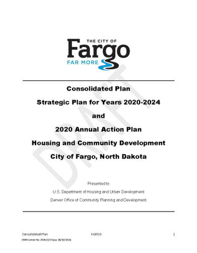 2020-2024 Consolidated Plan and 2020 Action Plan - DRAFT