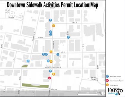 The City of Fargo Sidewalk Activities Permits