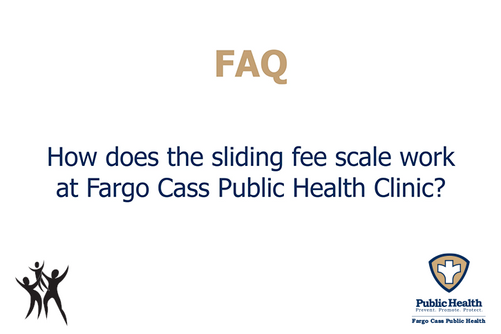 How does the sliding fee scale work?