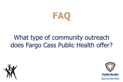 What type of community outreach does FCPH offer?