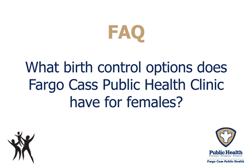 What birth control options are available for females?