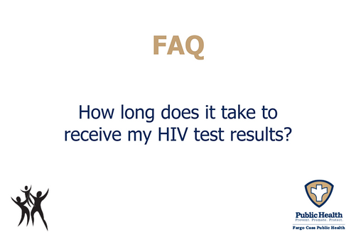 How long does it take to receive HIV test results?