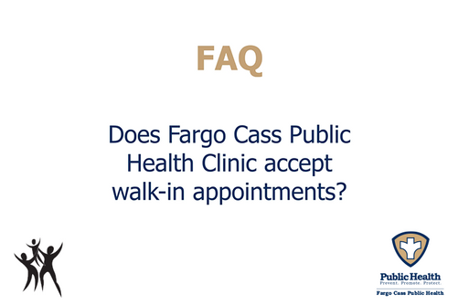 Does the FCPH Clinic accept walk-ins?