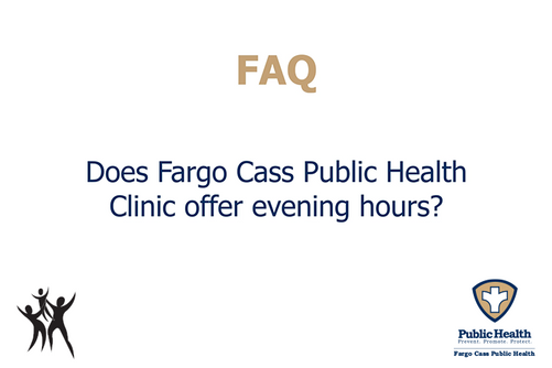Does the FCPH Clinic offer evening hours?