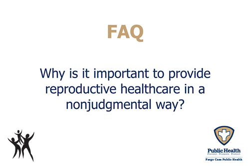 Why is it important to provide care in a nonjudgemental way?