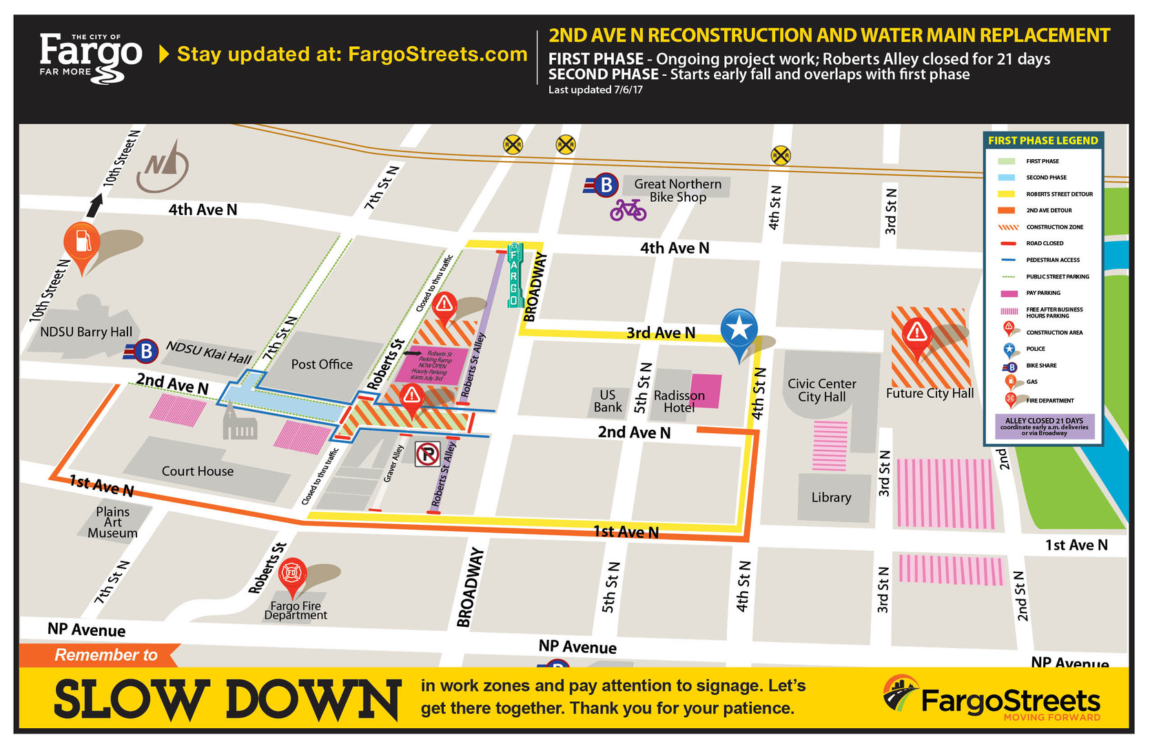 Project: 2nd Avenue N Reconstruction: Roberts Alley to 7th St.