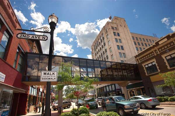 The City of Fargo Downtown Fargo Photos