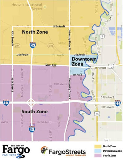 FargoStreets Zone Map