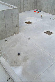 Two Sump Pump Pits