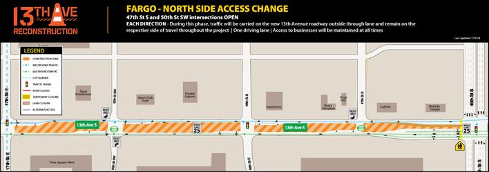 All intersection acccess in Fargo restored