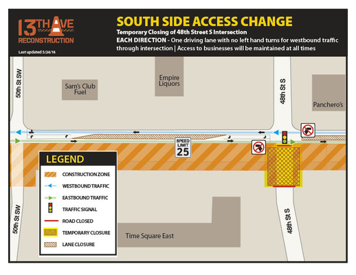 13th Avenue and 48th Street Intersection Closure