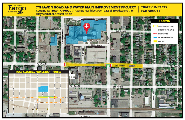 7th Avenue and 4th Street North intersection reopening to traffic