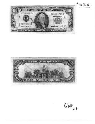 counterfeit $100