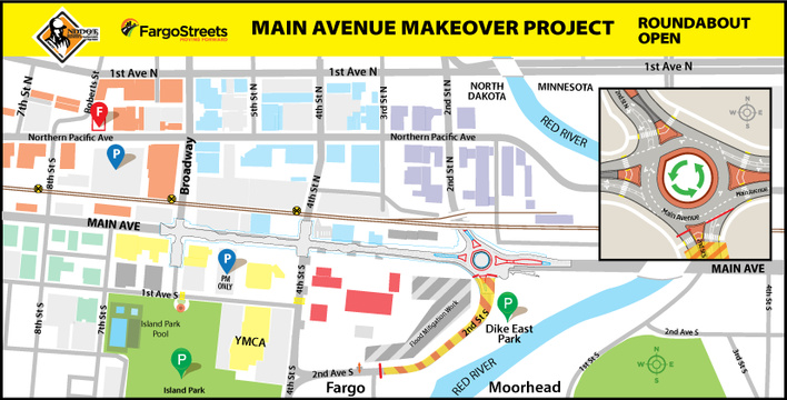 Main Avenue 2019 and 2020 Project Limits