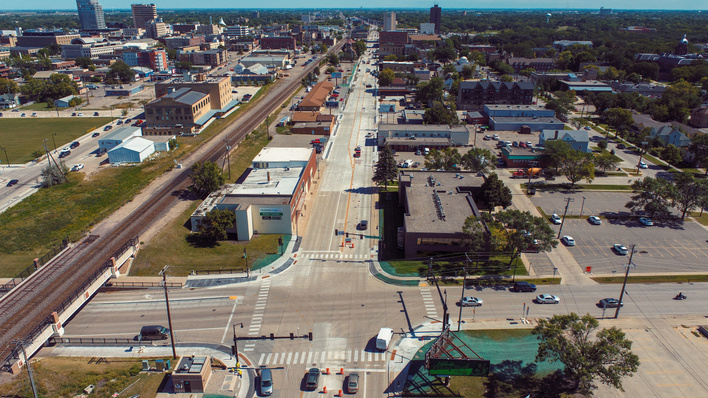 New Main Avenue Looking East. Courtesy: Apex Engineering, Sept. 4, 2020