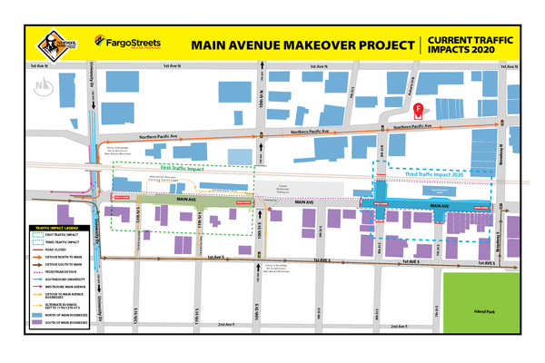Main Avenue and 8th Street Intersection Closure