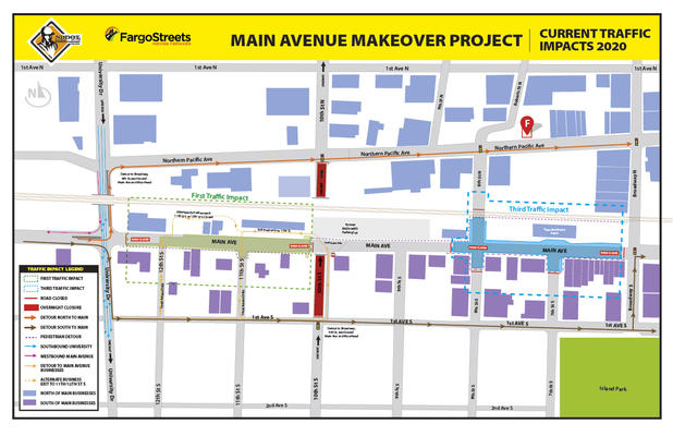 Overnight 10th Street South Underpass Closures