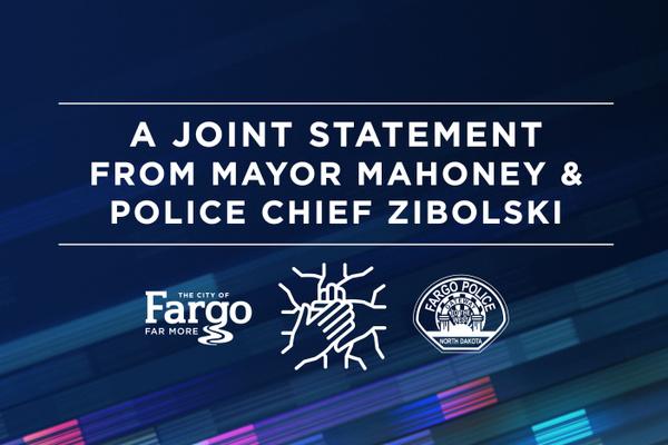 Mayor Mahoney and Chief Zibolski Joint Statement Graphic
