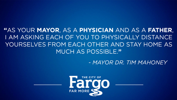 """As your Mayor, as a physician and as a father..."""