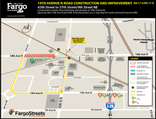 Upcoming Traffic and Business Access Map