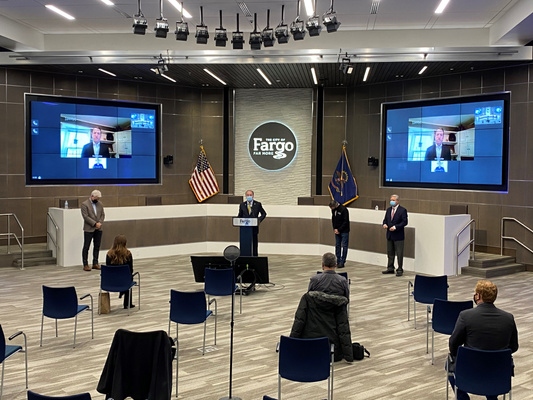 Fargo Mayor Dr. Tim Mahoney - Amazon Announcement - 10.30.2020