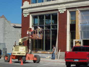 Historic Ford Building Renovation Progress 2006