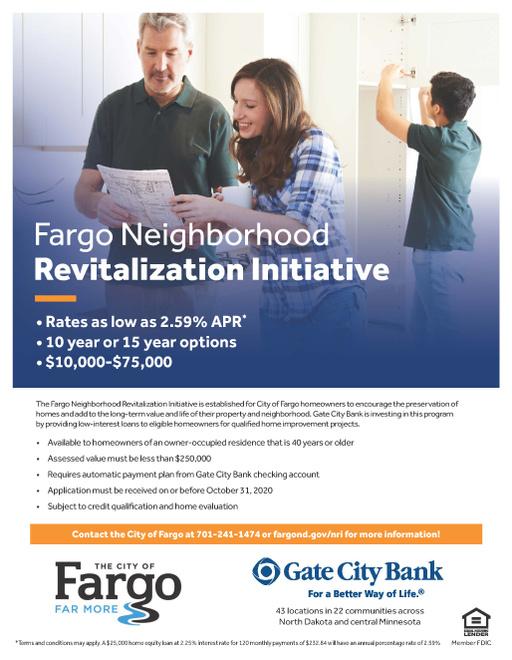 2020 Neighborhood Revitalization Initiative Program Flyer