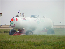 Ammonia tank chemical spill