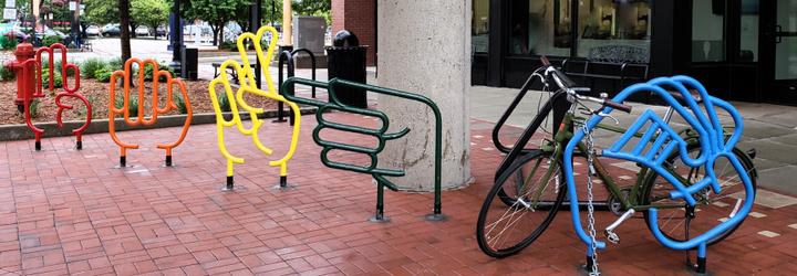 New Creative Bike Rack
