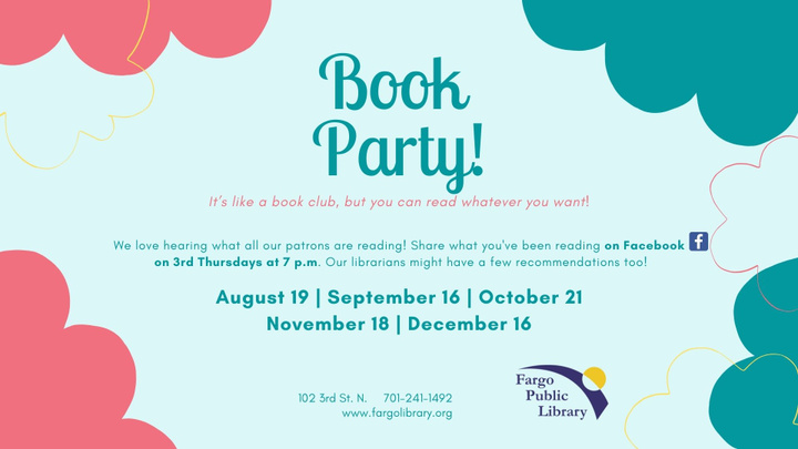 Book Party online fall 2021