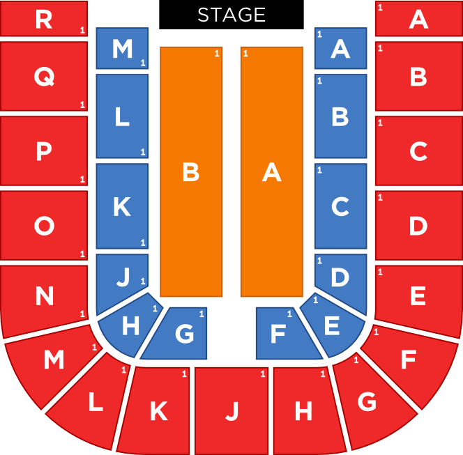Full Seated Capacity Stage Configuration