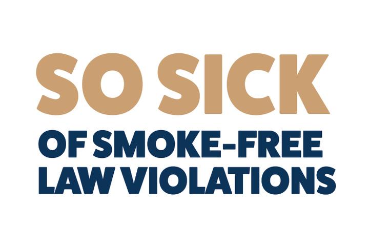 So Sick Smoke-Free Law Violations Logo