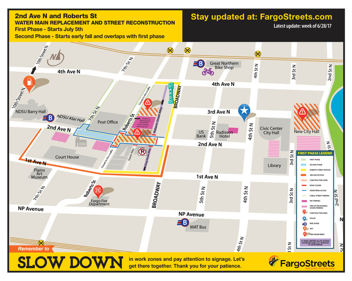 2nd Ave. N Project Map Overview