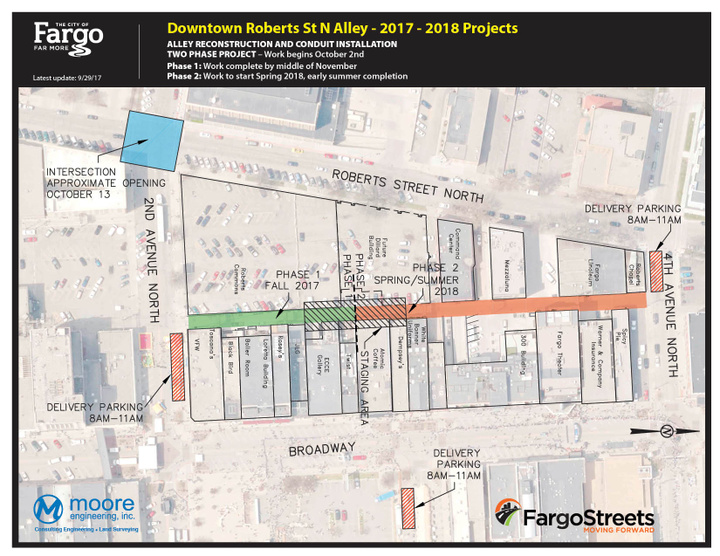 Adjacent Project: Roberts Street Alley Reconstruction