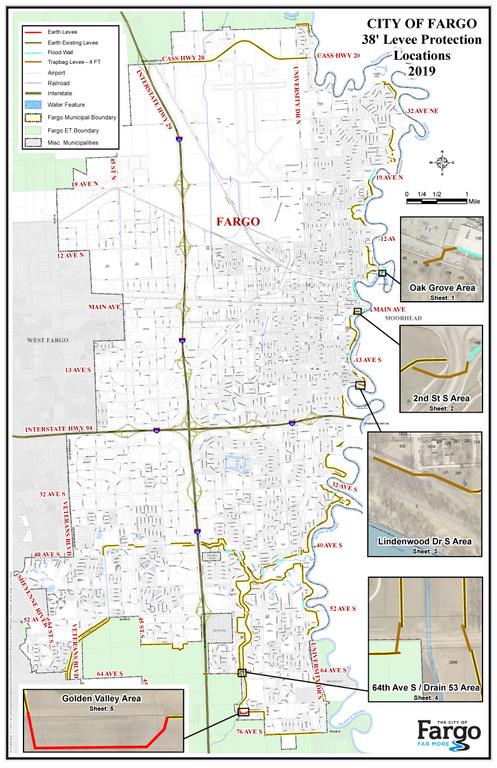 The City of Fargo - Maps City Of Fargo Flood Map on