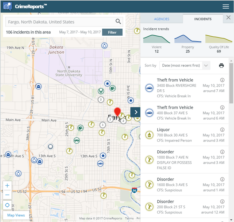 The City of Fargo - Crime Mapping