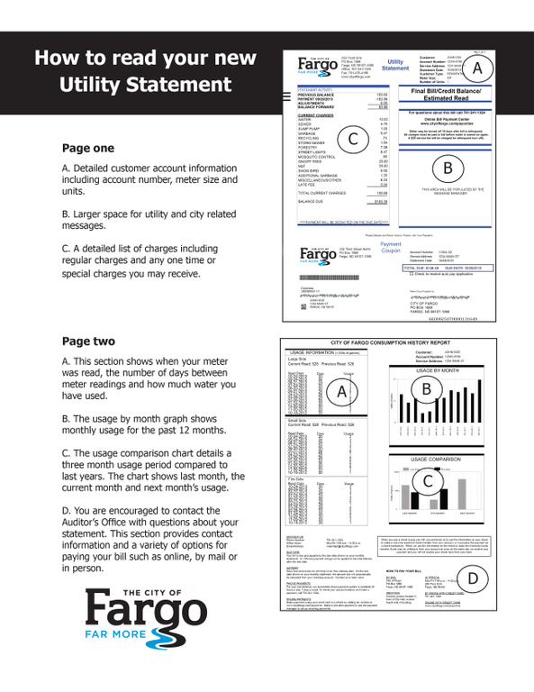 The City of Fargo - Monthly Statements & Billing History